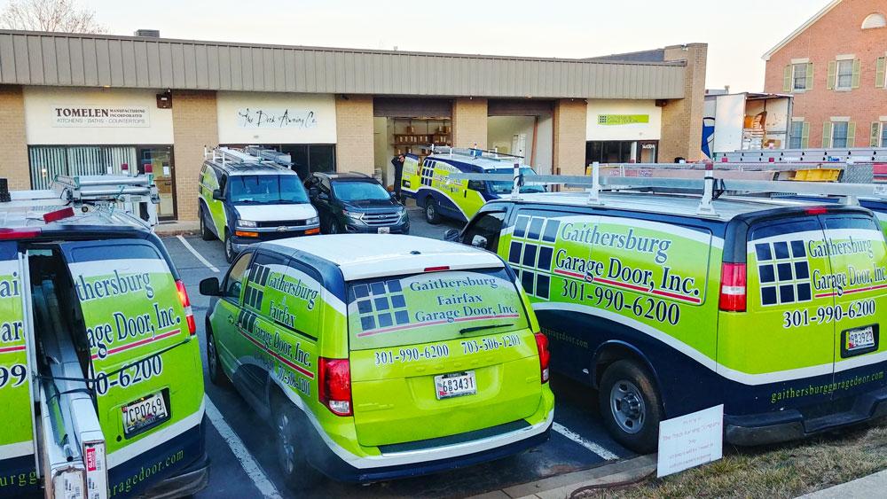 Garage Door Service trucks